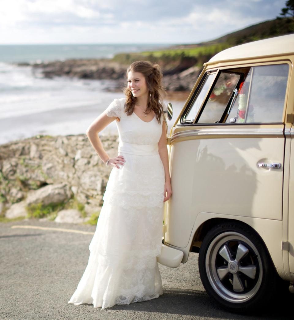 A Charlie Brear Dress for a Seaside Wedding in Devon