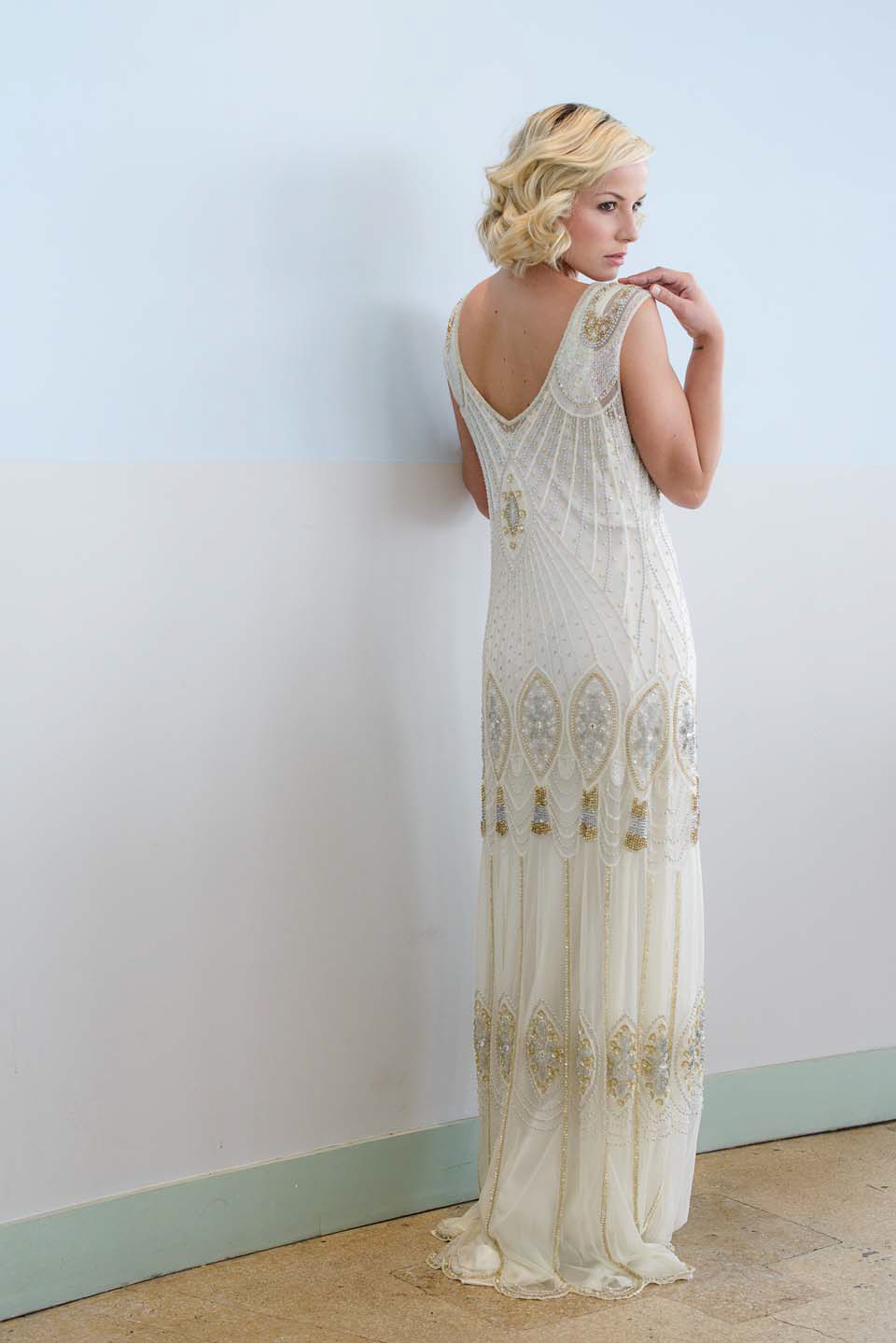 1920s and 1930s inspired heirloom style wedding dresses bridal