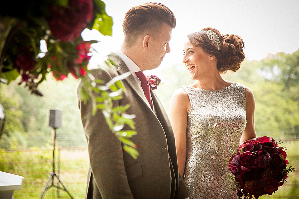 Sequins, Chandeliers and Disco Balls: A Decadent Festival Inspired Wedding in the Woods