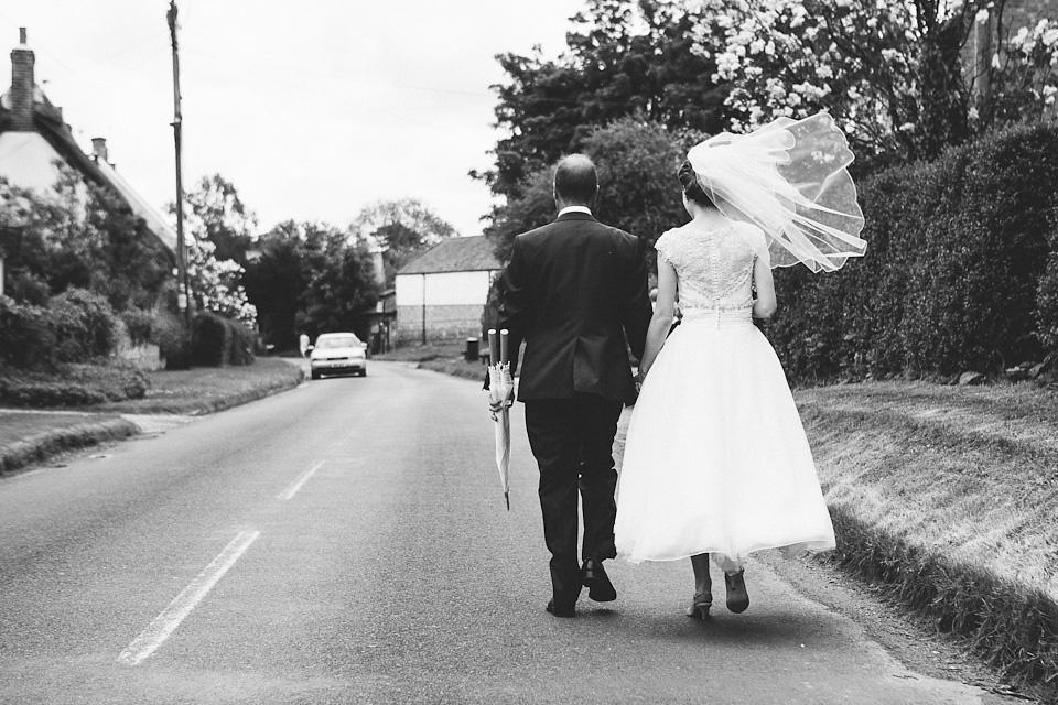 Turquoise Shoes and a Tea-Length Dress For a Festival Style Farm Wedding (Weddings )