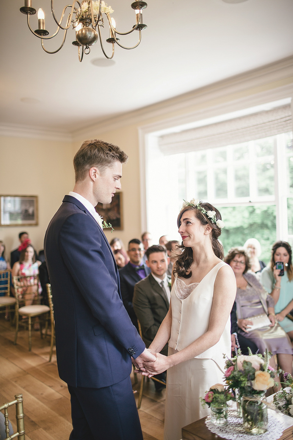 A Pre-Loved Élise Hameau Gown for a Romantic and Elegant Wedding at Pembroke Lodge  (Weddings )