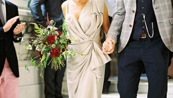 A Fashion Designer Bride, Her Childhood Sweetheart and their Quirky and Glamorous London Wedding