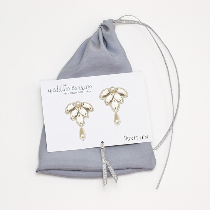 The Wedding Earring Collection by Britten Weddings + Save £10 On Your First Order
