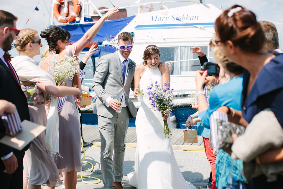 Sailboats and Sandals – A Halterneck Dress for a Nautical Style Summer Wedding on the Solent