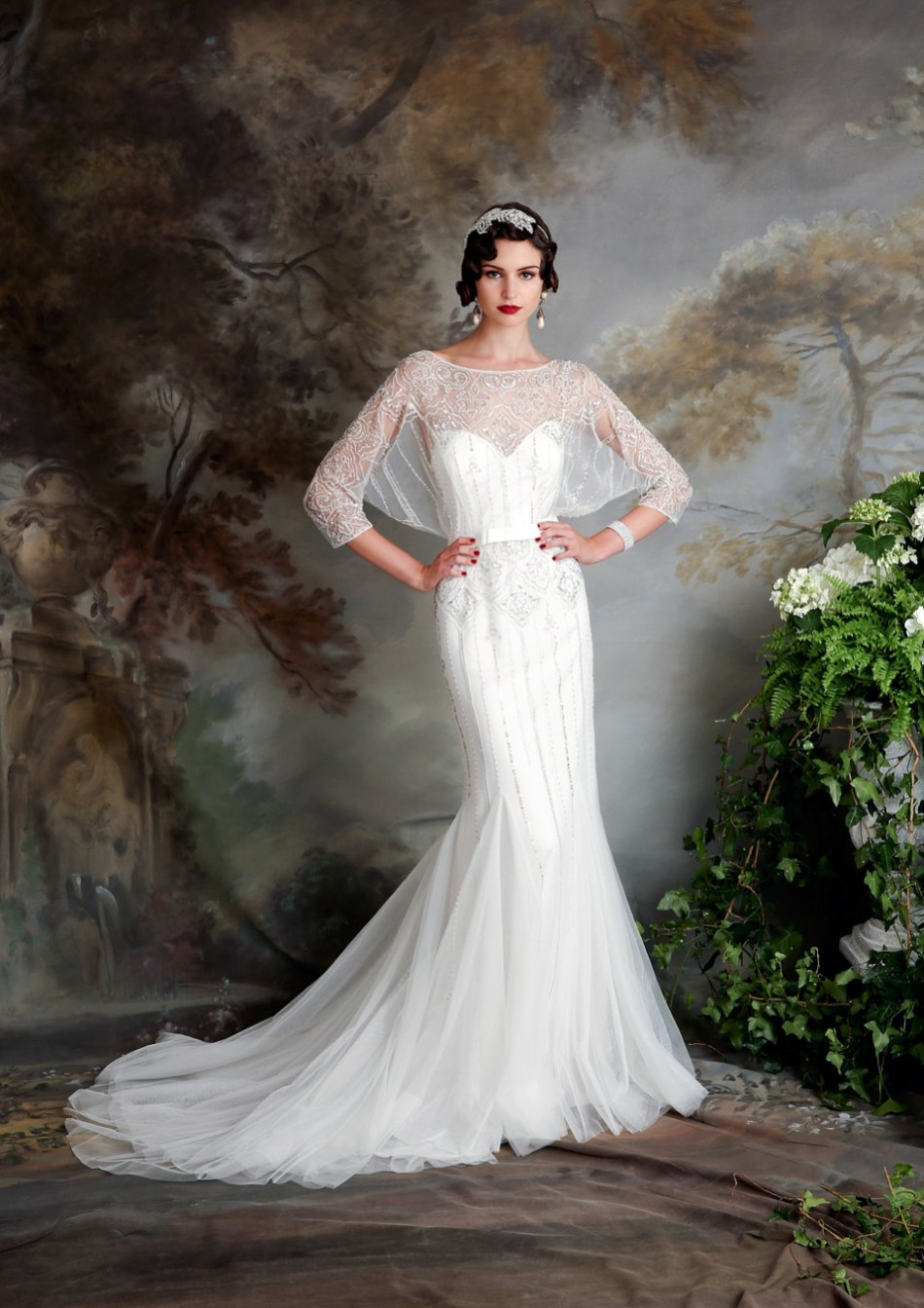 eliza jane howell elegant art deco inspired wedding On art deco inspired wedding dress