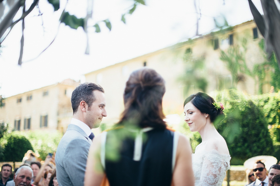 A Temperley Dress for a Rustic Style, Midsummer Wedding in Tuscany (Weddings )
