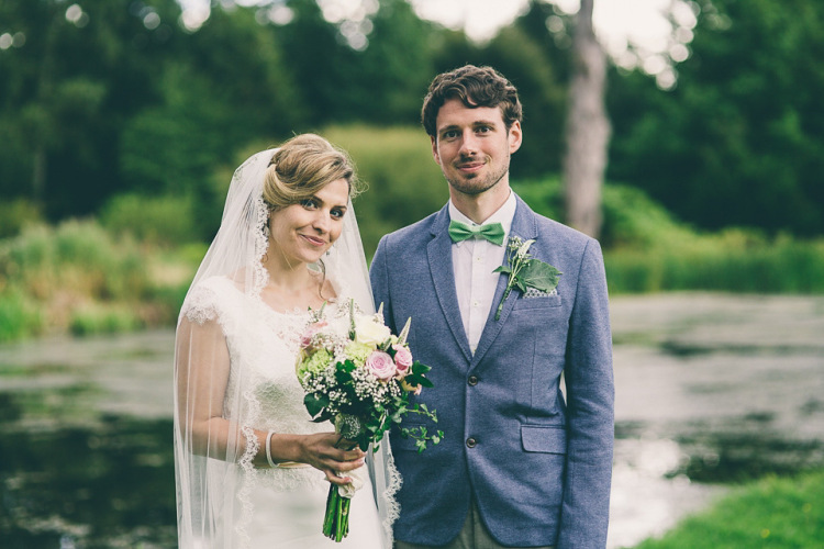 Charlie Brear Elegance and Green Polka Dot Glamour for a Laid Back Wedding on the Family Farm