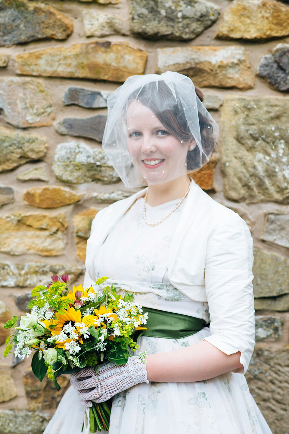 A Village Hall Wedding with a 50's Floral Dress and Street Party Celebration