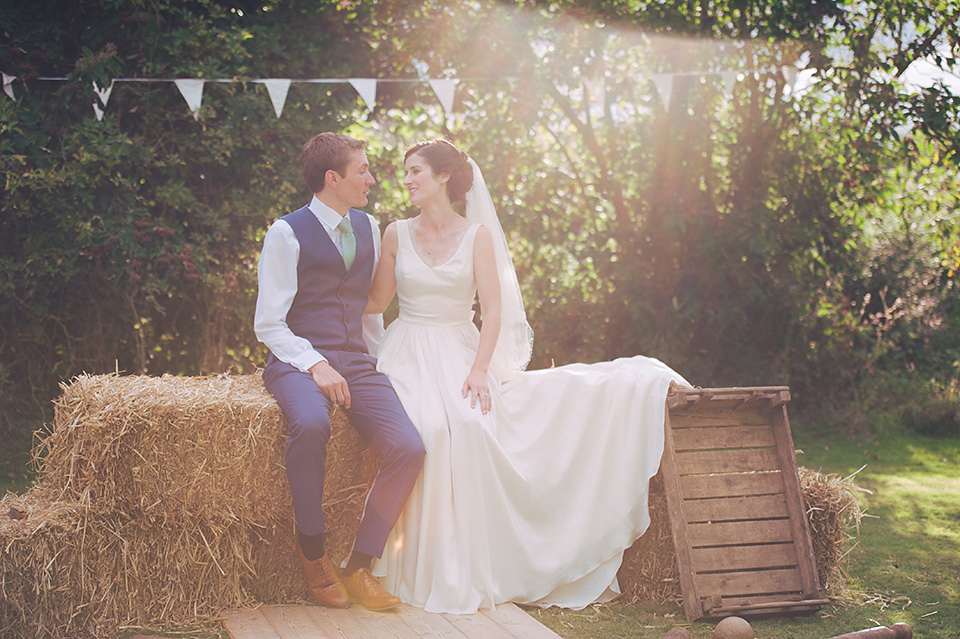 A Bespoke Susie Stone Gown for a Nature Inspired Somerset Farm Wedding