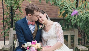 A 1940s Vintage Gown, Bow Ties and Pink Peonies for a Town and Country Inspired Wedding