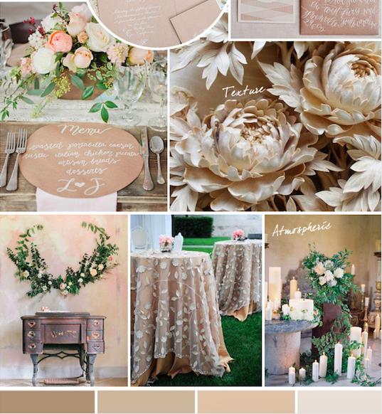 Bridal Inspiration Board #80 ~ Elegant Neutral Spring Shades