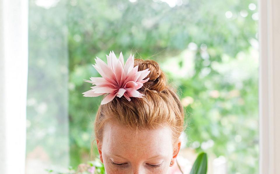 DIY Tutorial:  Silk Dahlia Flower Headpiece