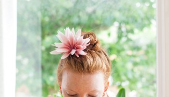 DIY Tutorial:  Silk Dahlia Flower Headpiece