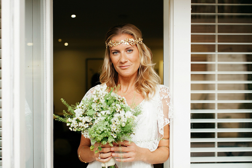 A Delphine Manivet Gown for a Bohemian Bride and her Intimate Wedding (Weddings )