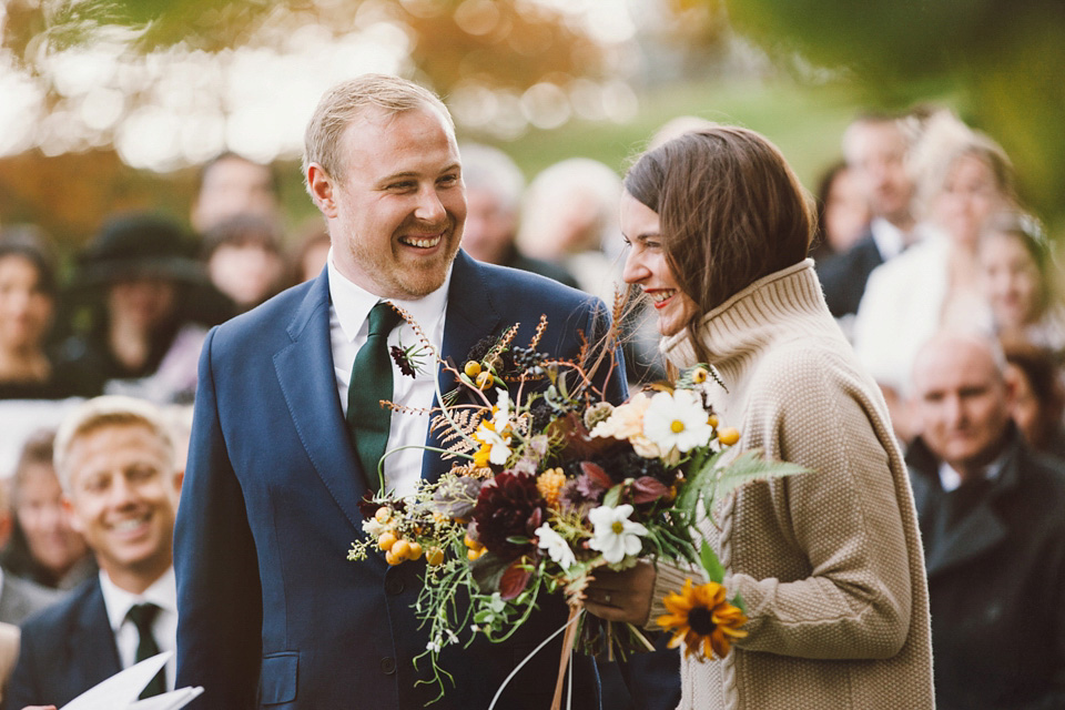 A Richard Nicoll Dress and Cashmere Jumper for an Autumn Wedding in Scotland