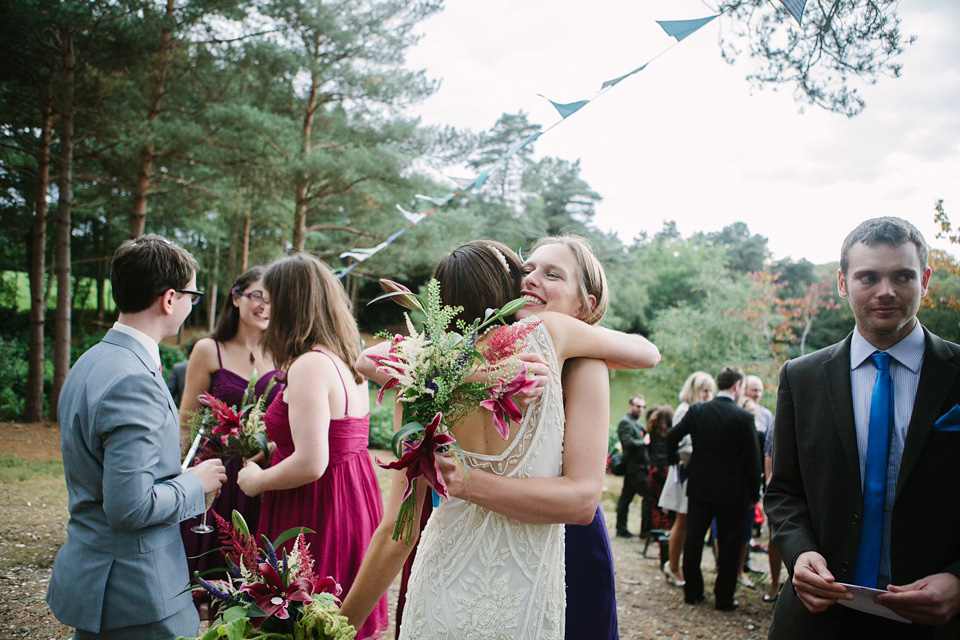 An 1920's Flapper Dress for a Colourful and Eccentric Lakeside Wedding (Weddings )