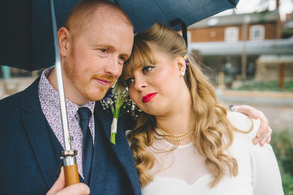 Victory Rolls and a 1940's Gown for a Modern Vintage Wedding (Weddings )
