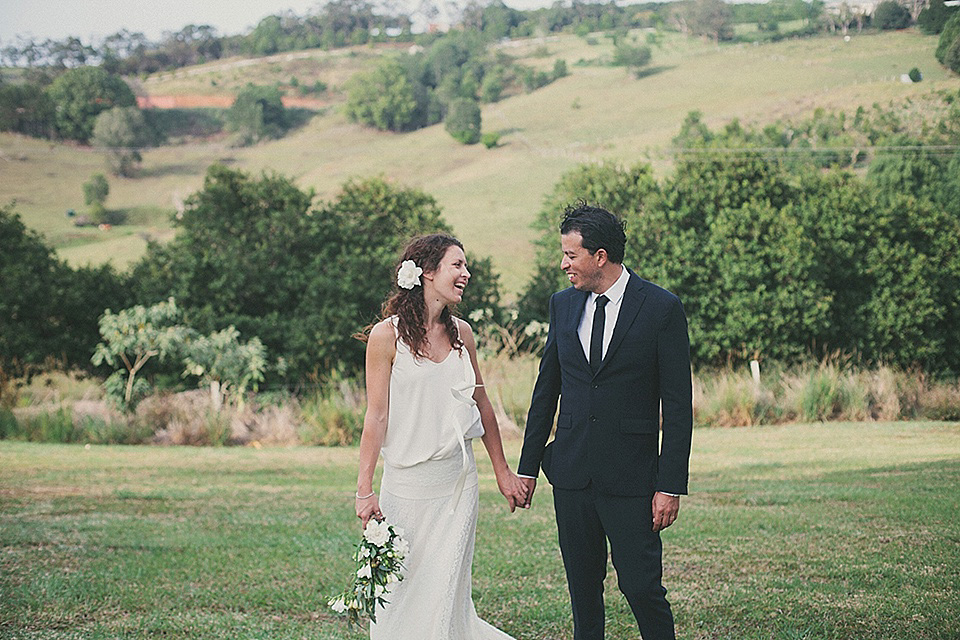 Delphine Manivet and Flowers in her Hair for a Laidback Australian Outdoor Wedding
