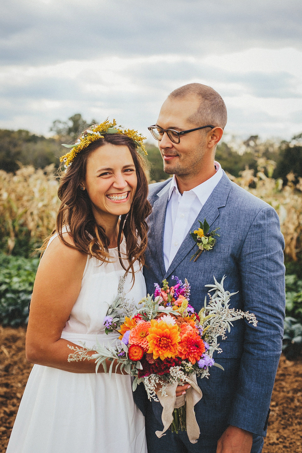 A Madewell Dress for a Homespun and Rustic Wedding on the Farm