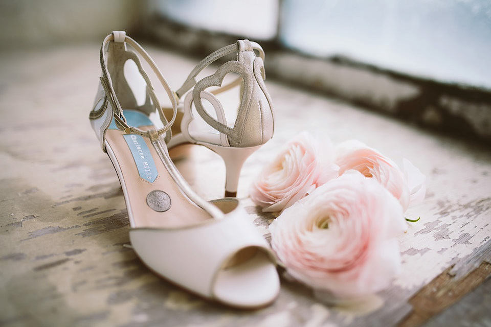 A Silver Sixpence in her Shoe – First Look at Charlotte Mills Beautiful New Wedding Shoes