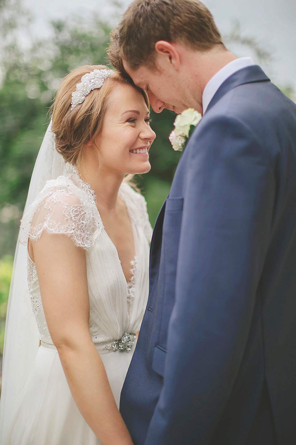 Jenny Packham's 'Dentelle' for a Rose Pink and Romantic Summer Wedding