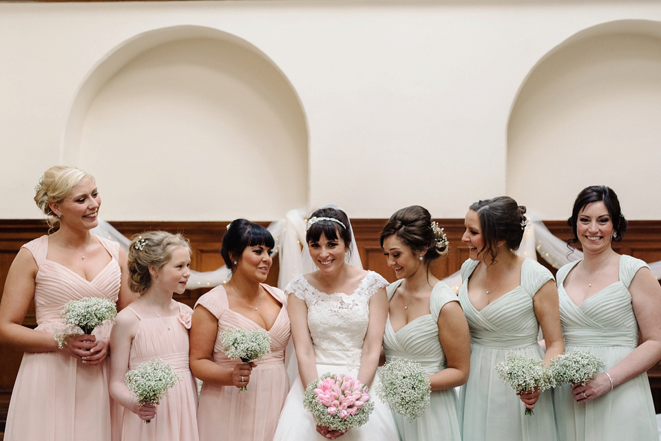 Pale Green, Pink and Subtle Shades of 60's Style (Weddings )