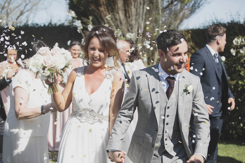 Grecian Glamour For A Scottish – Italian, Humanist Barn Wedding