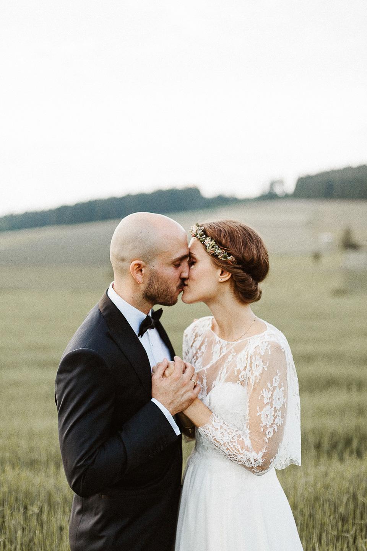 Sarah Seven and Rue de Seine for a Boho Bride and Her Rustic Farm Wedding