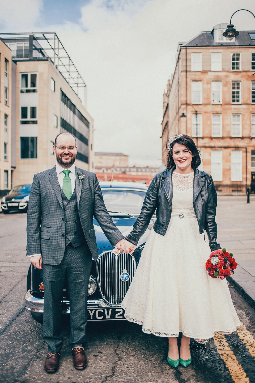 An Emerald Green 50's Inspired Glasgow City Wedding