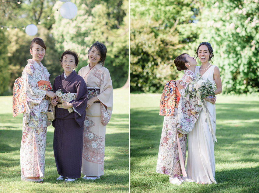 A Theia Gown and Ostrich Feathres for a Scottish and Japanese Inspired Country House Wedding (Weddings )