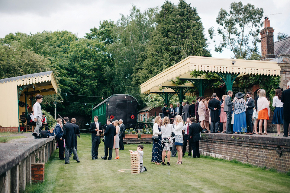 Suzanne Neville, Jazz and Lawn Games for an Elegant Victorian Train Station Wedding (Weddings )