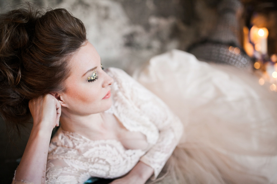 Elizabeth Dye Glamour and Gold: An Alchemy Inspired Bridal Shoot