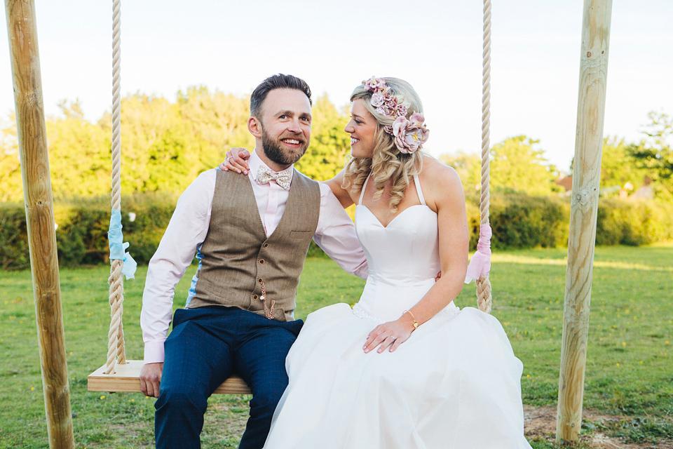 Lyn Ashworth by Sarah Barrett for a Delightful Summer Garden Marquee Wedding