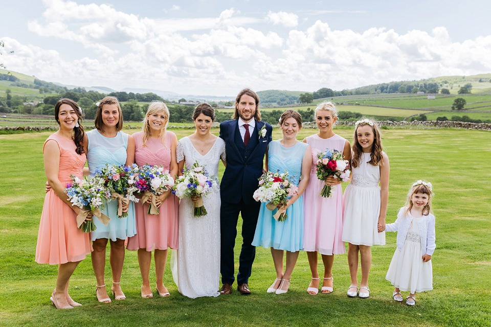 A North Yorkshire Wedding Full Pretty Pastel Shades and Bridal Glamour