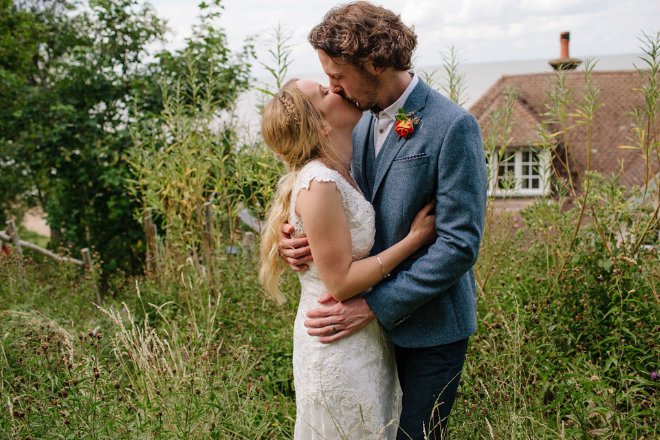 A Charming Seaside Wedding at an Artists' Beach House in Whitstable