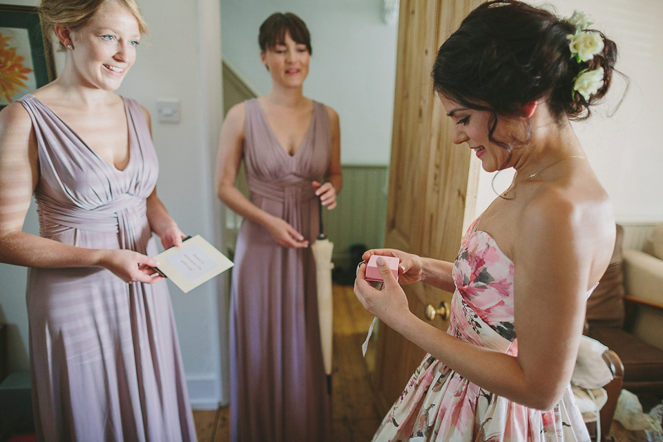 A Wendy Makin Floral Gown for a Rustic and Vintage Inspired Wedding (Weddings )