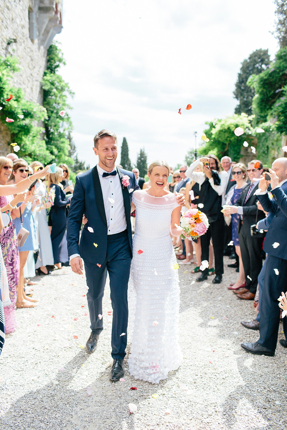 Temperley Elegance and Black Tie for a Fun-filled and Colourful Italian Wedding