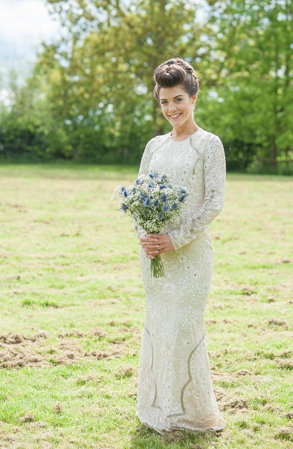 A Needle and Thread Dress for a Modern and Elegant Dewsall Court Wedding (Weddings )