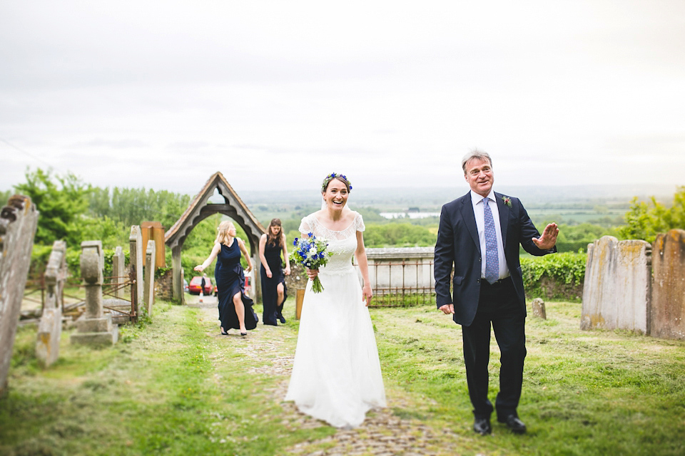 An Heirloom Veil for a Colourful, Homespun, Country Garden Wedding (Weddings )