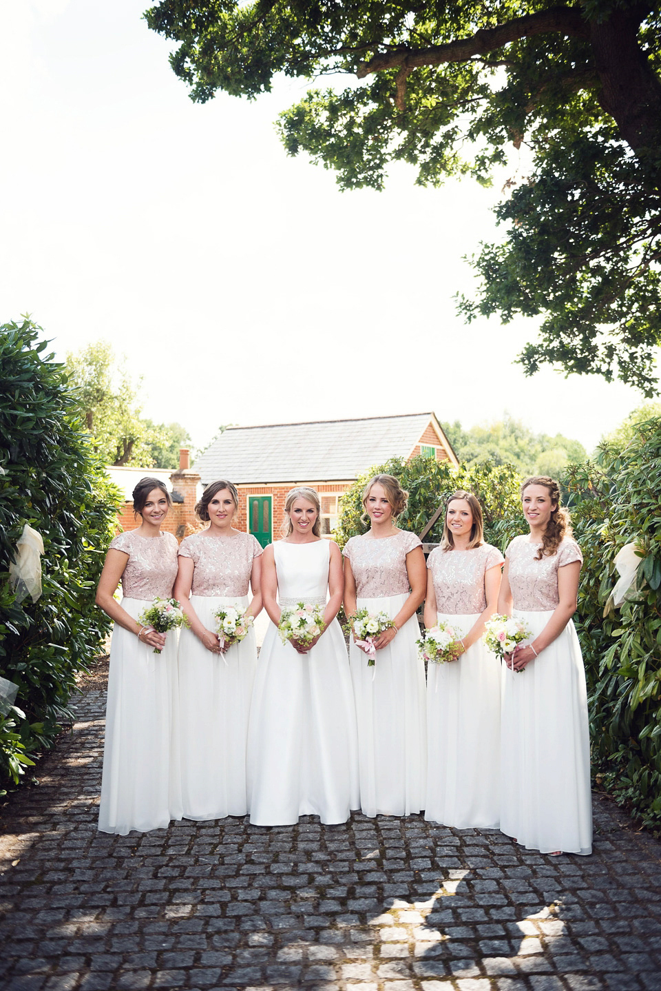 A Jesus Peiro Gown for a Glamorous and Romantic English Country Garden Wedding (Weddings )