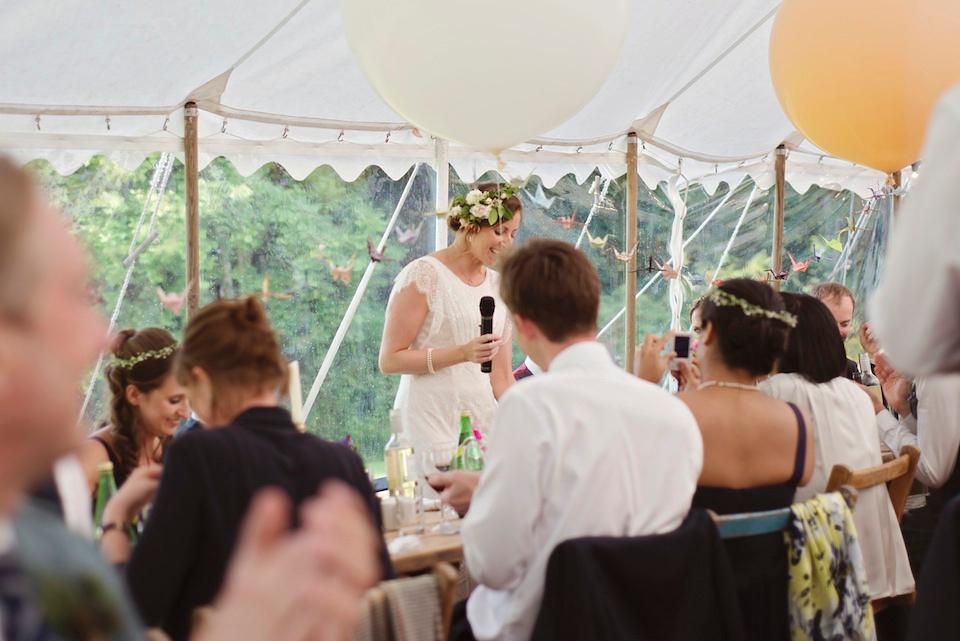 A Beautiful Belle & Bunty Dress and 1000 Paper Cranes for a Guardian Soulmates Wedding (Weddings )
