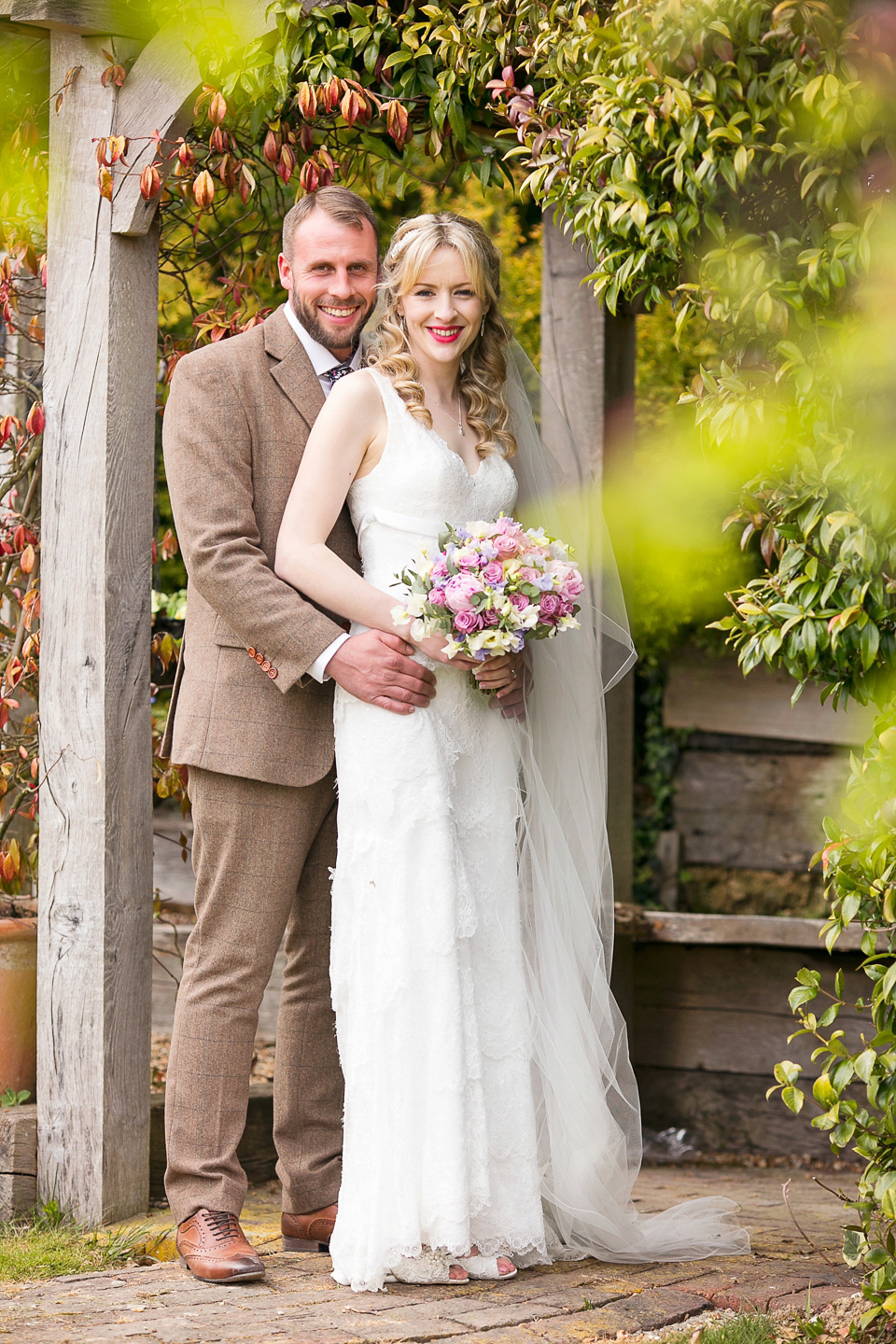An Elegant Cymbeline Gown For A Rustic English Countryside Wedding in the Spring