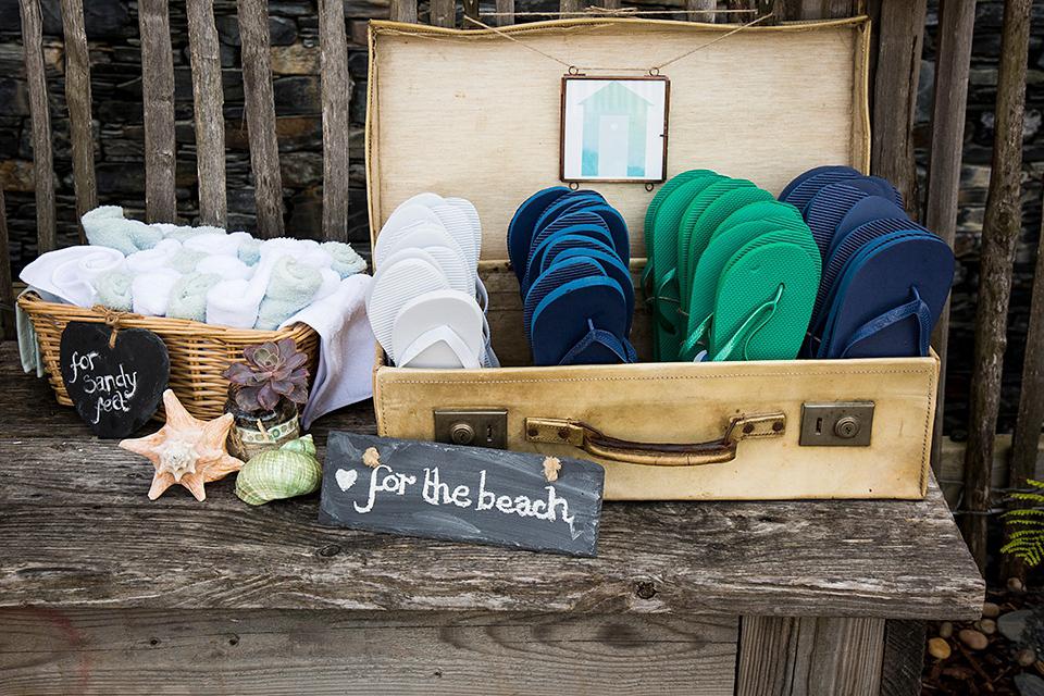 A Polka Dot Catherine Deane Dress for A Devon Seaside Wedding (Weddings )