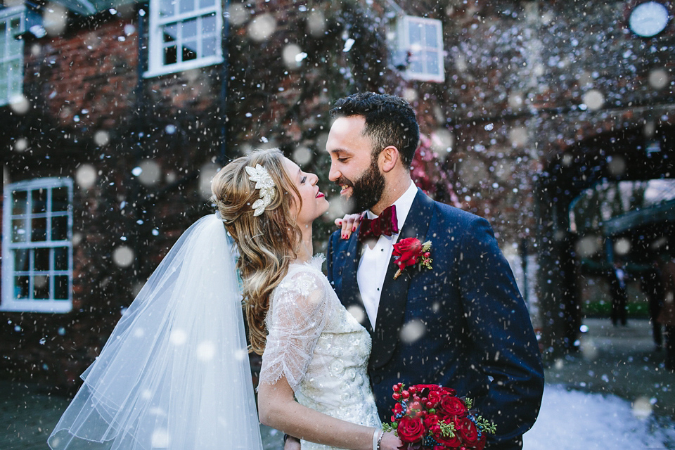 Mimosa by Jenny Packham for a 1920's Inspired Glamorous Winter Wedding on the Family Farm