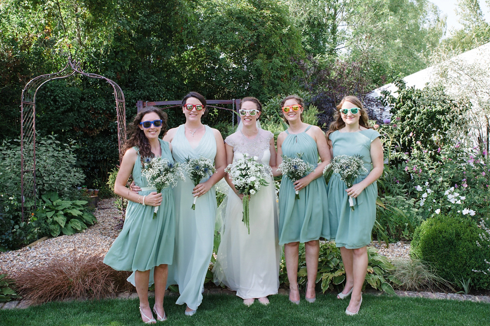 A Glamorous Gwendolynne Gown for a Homemade Summer Garden Party Wedding (Weddings )