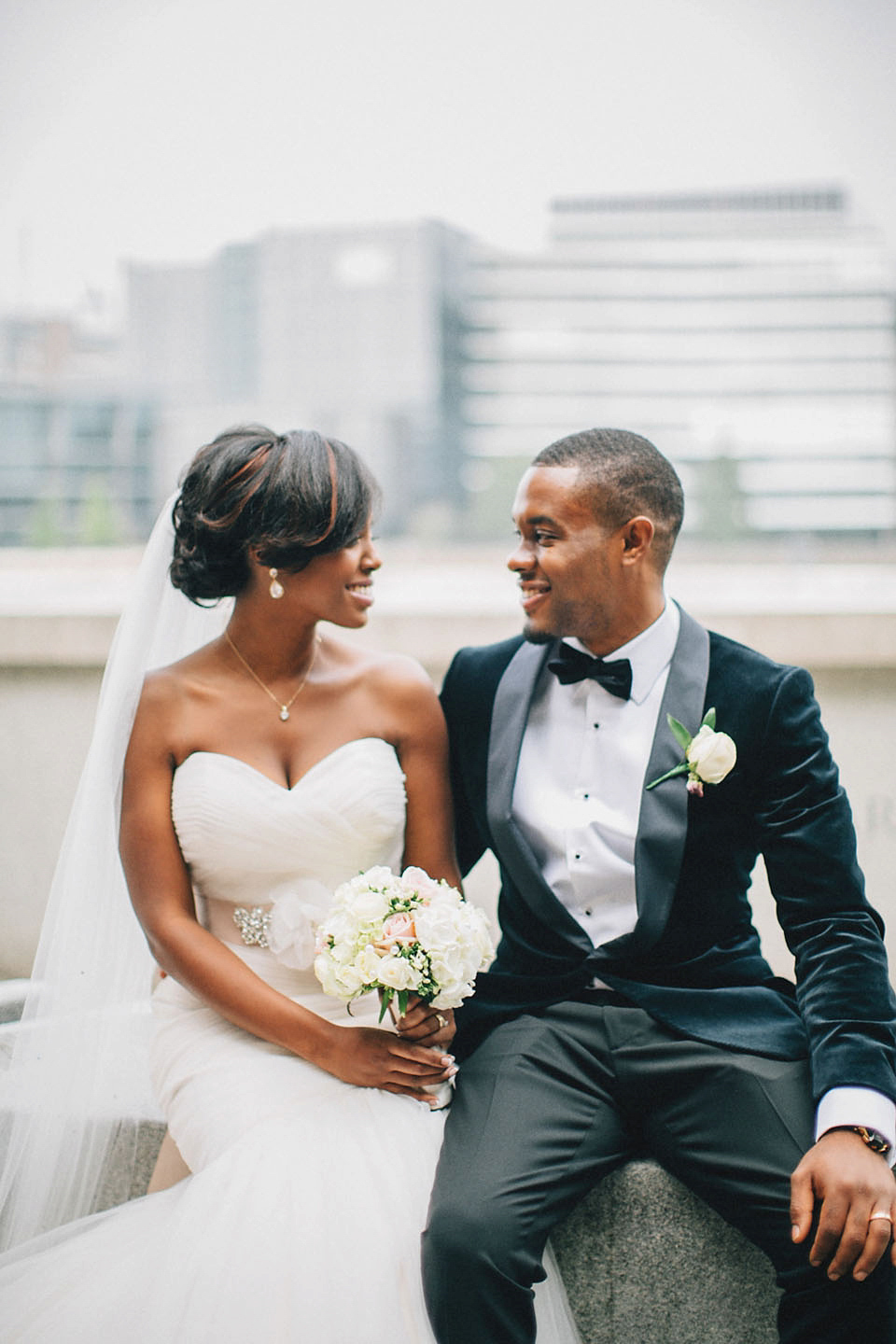 An Essense of Australia Gown for a Caribbean Nigerian Fusion Wedding in London
