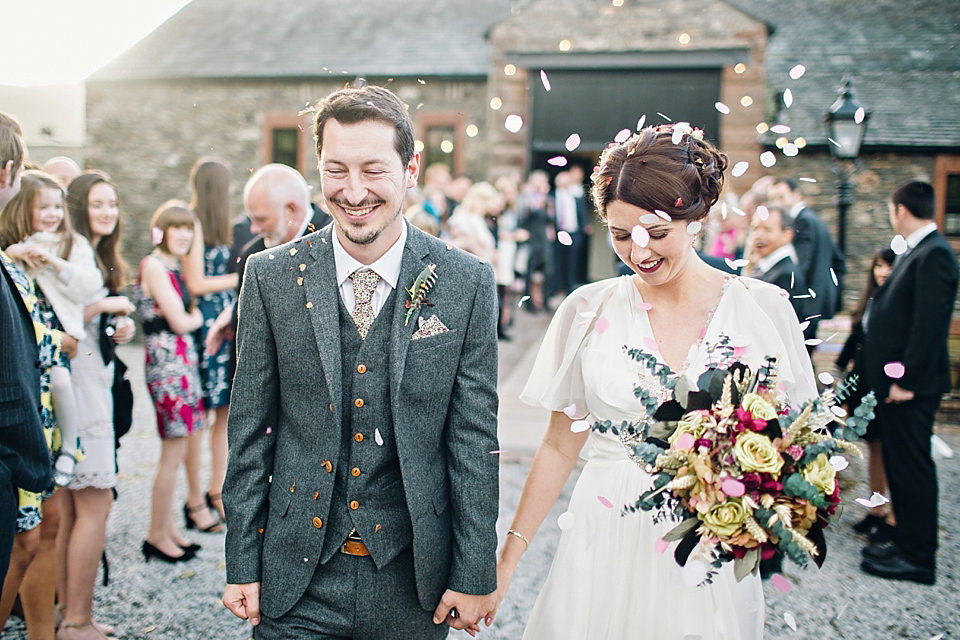 A Jenny Packham Dress For A Homemade Autumn Wedding In The Lake District