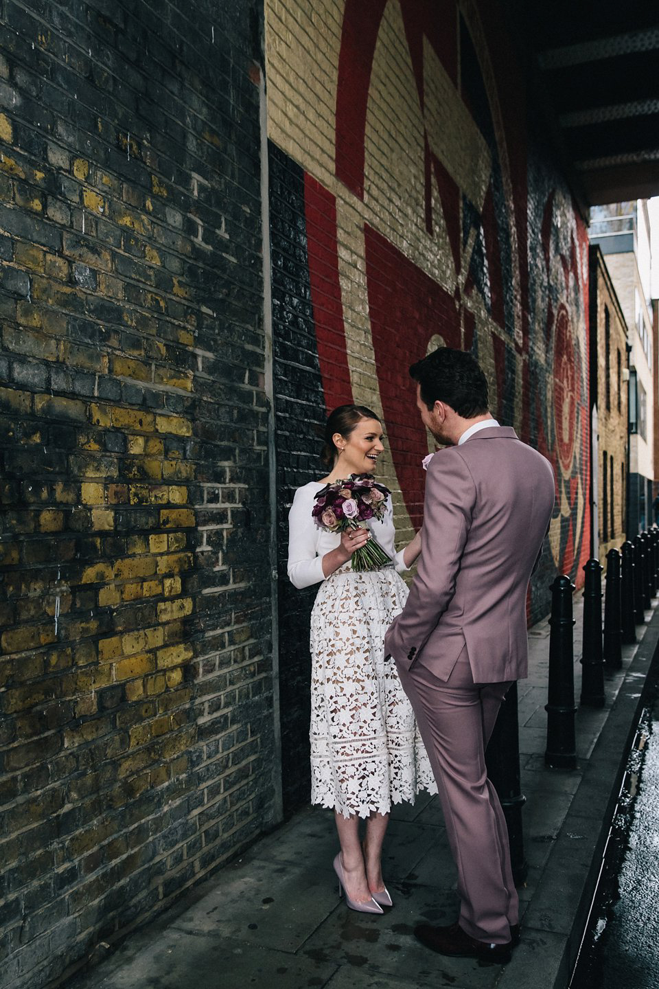 A 5pm Ceremony and Warehouse Reception for a Quirky and Stylish Winter Wedding (Weddings )
