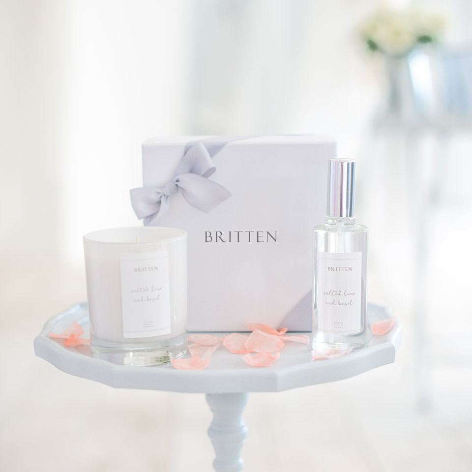 Wedding candle gift set Salted Lime & Basil by Britten