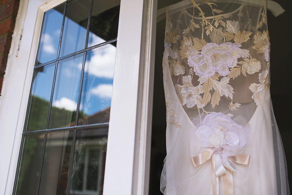 A Claire Pettibone Embroidered Flowers Dress For A Guardian Soulmates Wedding